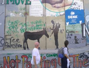 Israeli West Bank wall along the Green Line