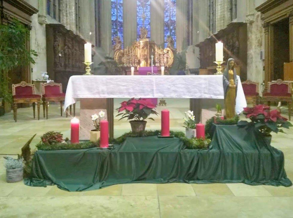 The first Advent candle is lit
